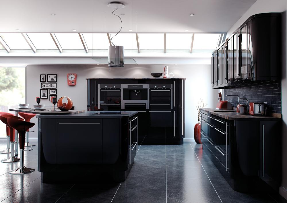 High gloss for Kitchen design yorkshire